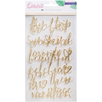 Crate Paper OASIS Phrases Puffy Stickers 378997