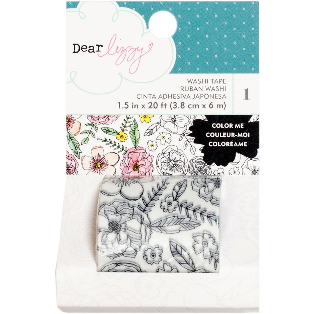 American Crafts Dear Lizzy COLORING WASHI TAPE Lovely Day 376963 zoom image