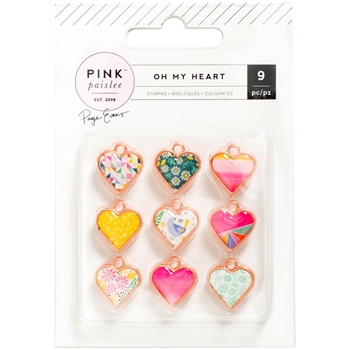 Pink Paislee OH MY HEART Paige Evans Charms 310526