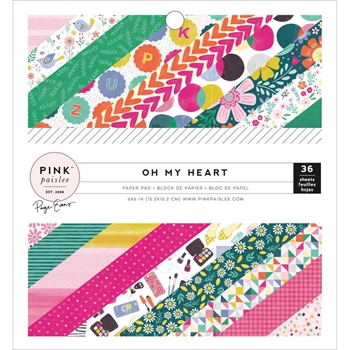 Pink Paislee OH MY HEART Paige Evans 6 x 6 Paper Pad 310517