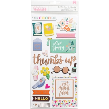 Pink Paislee OH MY HEART Paige Evans Thickers Stickers 310521