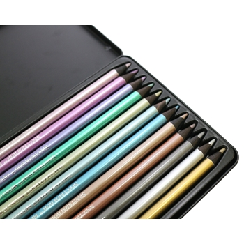 Crafter's Companion SPECTRUM NOIR METALLIC PENCILS SPECNMP12