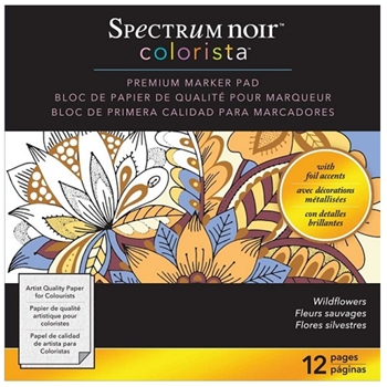 Crafter's Companion WILDFLOWERS Colorista 6x6 Marker Pad SPECNCPAD6WIF