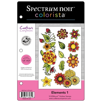 Crafter's Companion ELEMENTS 1 Colorista Cling Stamp Set SPECNCSTELE1