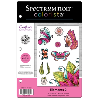Crafter's Companion ELEMENTS 2 Colorista Cling Stamp Set SPECNCSTELE2