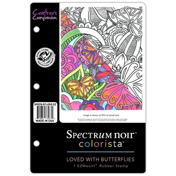 Crafter's Companion LOVED WITH BUTTERFLIES Colorista Cling Stamp Set SPECNSTLOVEEZ
