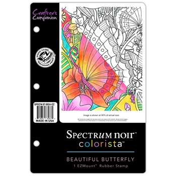 Crafter's Companion BEAUTIFUL BUTTERFLY Colorista Cling Stamp Set SPECNSTBEAEZ