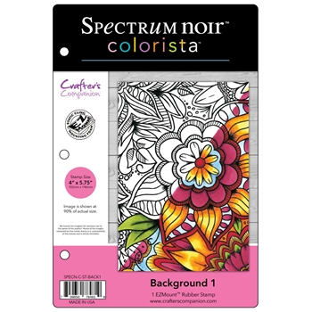 Crafter's Companion BACKGROUND 1 Colorista Cling Stamp Set SPECNCSTBACK1