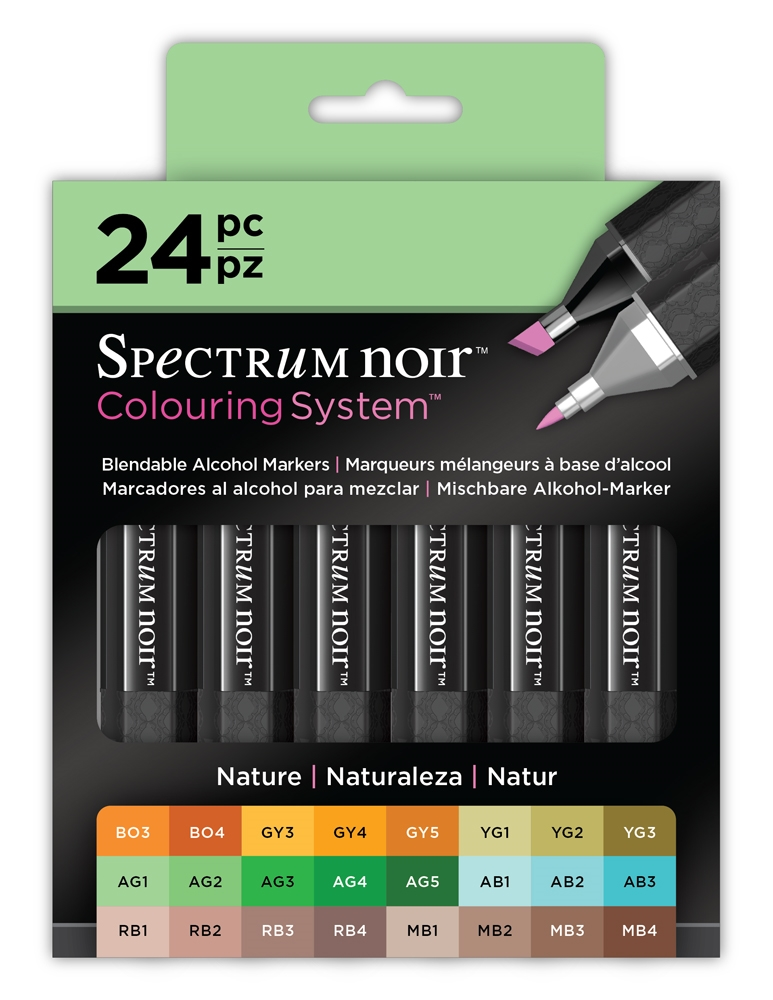 Crafter's Companion NATURE 24 SET Spectrum Noir Markers SPECLNATURE24 zoom image