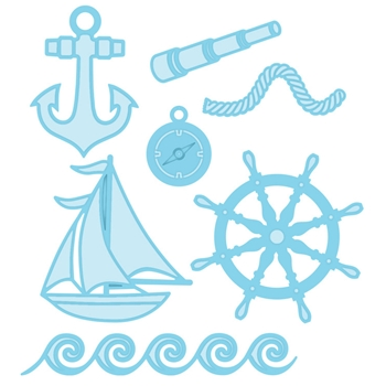 Creative Expressions NAUTICAL ACCESSORIES Sue Wilson Fillables Collection Die Set CED21004