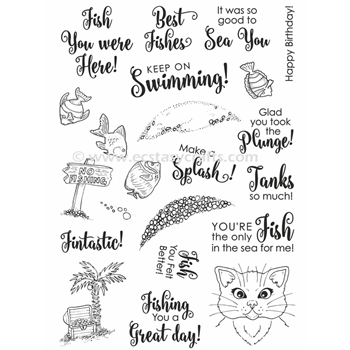 Creative Expressions FISHBOWL FRIENDS Clear Stamps CEC815