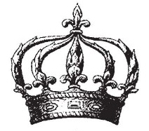 Tim Holtz Rubber Stamp THE CROWN H1-1206 Stampers Anonymous Preview Image