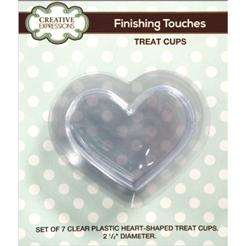 Creative Expressions HEART SHAPED Treat Cup Shaker CEHTREAT