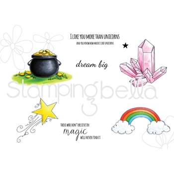 Stamping Bella Cling Stamp UNICORN ADD-ONS Rubber UM EB444