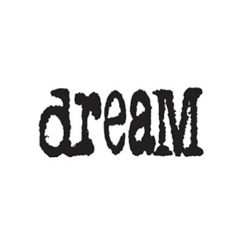 Tim Holtz Rubber Stamp DREAM Stampers Anonymous J3-1076