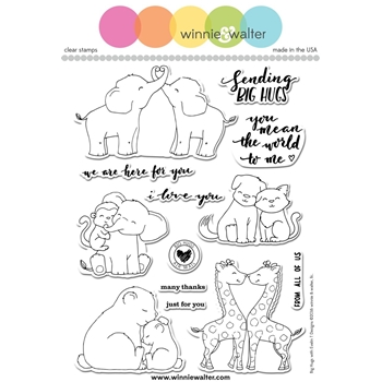 Winnie and Walter BIG HUGS Clear Stamps Evelin T Designs WW076