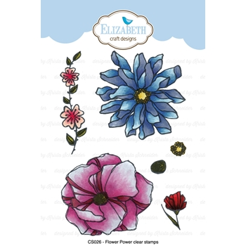 Elizabeth Craft Designs Clear Stamps FLOWER POWER CS026