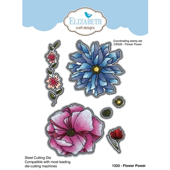 Elizabeth Craft Designs FLOWER POWER Craft Die 1333
