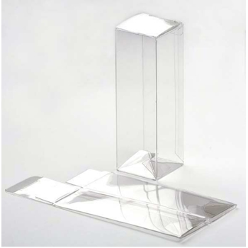 Clear Bags POP AND LOCK TREAT TUBES Crystal Clear Boxes PLB34