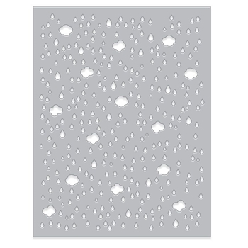 Hero Arts CLOUD AND RAINDROP CONFETTI Fancy Die DI368