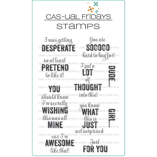 CAS-ual Fridays TAG YOURE IT Clear Stamps CFS1708 Preview Image