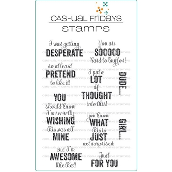 CAS-ual Fridays TAG YOURE IT Clear Stamps CFS1708