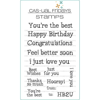 CAS-ual Fridays HEARTFELT SAYINGS Clear Stamps CFS1703*