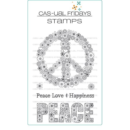 CAS-ual Fridays PEACE OUT Clear Stamps CFS1705 Preview Image