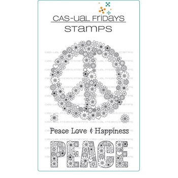 CAS-ual Fridays PEACE OUT Clear Stamps CFS1705