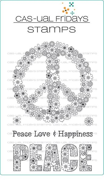 CAS-ual Fridays PEACE OUT Clear Stamps CFS1705 zoom image