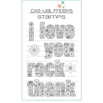 CAS-ual Fridays FLOWER POWER Clear Stamps CFS1706