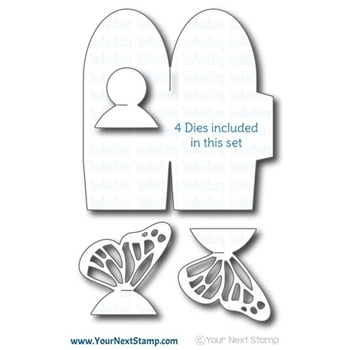 Your Next Stamp BUTTERFLY GIFT BOX Die YNSD302