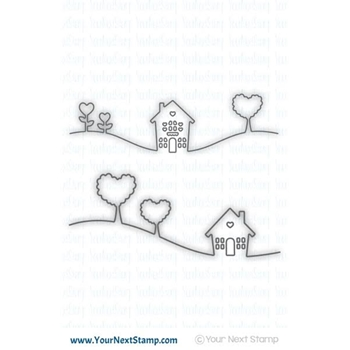 Your Next Stamp HOME IS WHERE THE HEART IS Die YNSD549