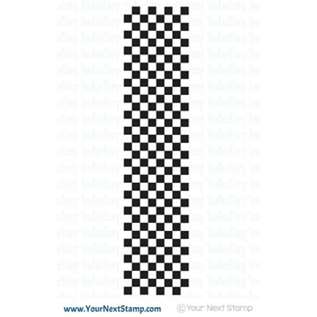Your Next Stamp CHECKERED EDGE Clear Stamp CYNS395
