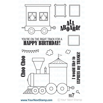 Your Next Stamp ALL ABOARD Clear Stamp CYNS520