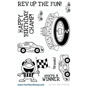 Your Next Stamp REV UP THE FUN Clear Stamp CYNS451