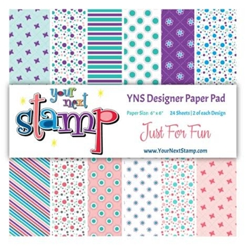 Your Next Stamp JUST FOR FUN 6X6 Paper Pack YNSPP008