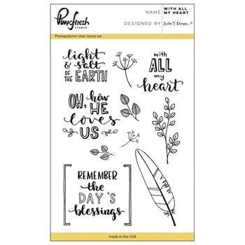 Pinkfresh Studio WITH ALL MY HEART Clear Stamp Set PFCS1517