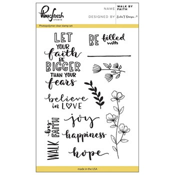 Pinkfresh Studio WALK BY FAITH Clear Stamp Set PFCS1617