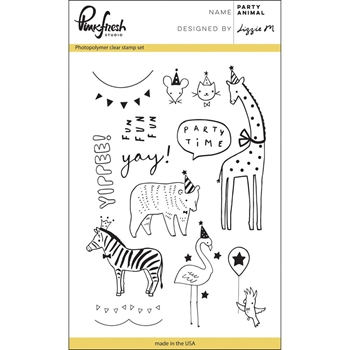Pinkfresh Studio PARTY ANIMAL Clear Stamp Set PFCS1817