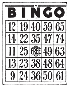 Tim Holtz Rubber Stamp BINGO CARD Game Stampers Anonymous M4-1279