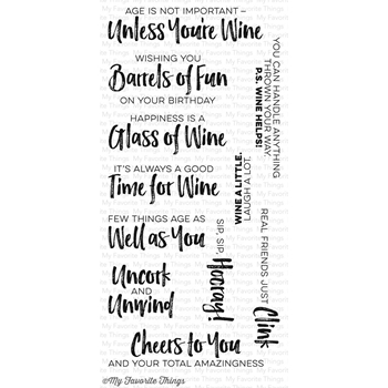 My Favorite Things UNCORKED Clear Stamps CS175