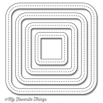 My Favorite Things SINGLE STITCH LINE ROUNDED SQUARE FRAMES Die-Namics MFT1056