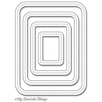 My Favorite Things SINGLE STITCH LINE ROUNDED RECTANGLE FRAMES Die-Namics MFT1055