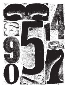 Tim Holtz Rubber Stamp NUMBER COLLAGE Stampers Anonymous P4-1297