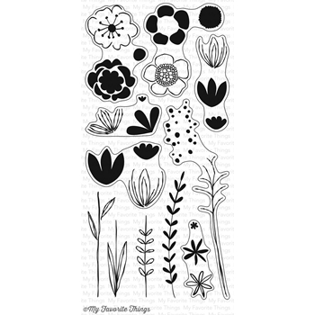 My Favorite Things SKETCHED BLOOMS 2 Clear Stamps CS166