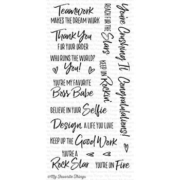 My Favorite Things BOSS BABE Clear Stamps CS181