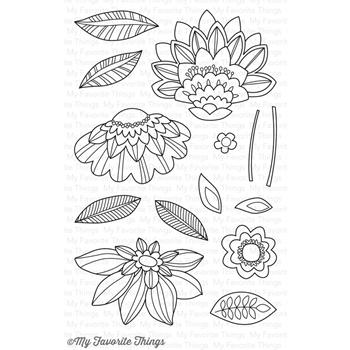 My Favorite Things FANCY FLOWERS Clear Stamps CS160