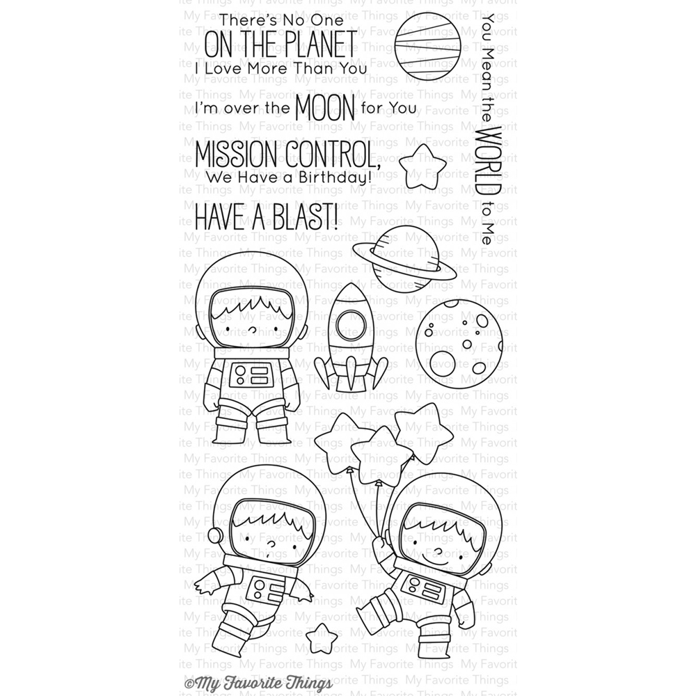 My Favorite Things SPACE EXPLORER Clear Stamps BB43 zoom image