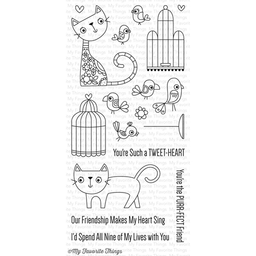 My Favorite Things Purr-Fect Friends Stamp Set